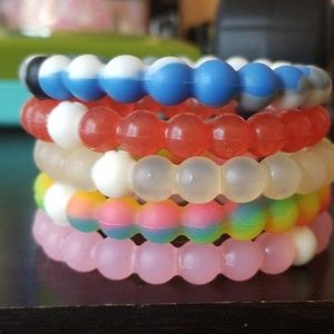 5 pack of Lokai bracelets